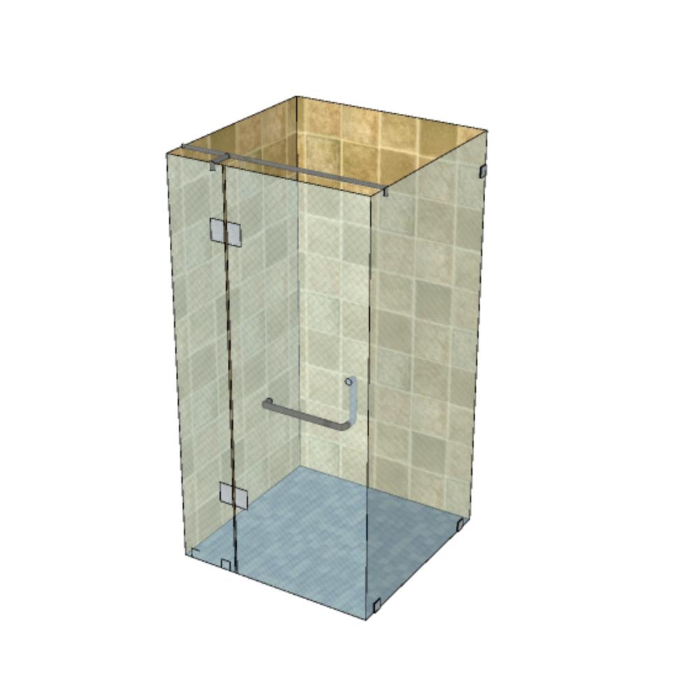 Угловая душевая конструкция из 3 стекол